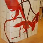 Röd Orkidé